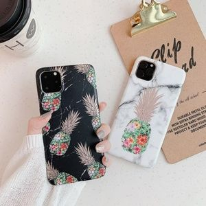 NEW iPhone 11/Pro/Max/XR Marble Pineapple Case